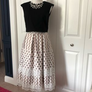 Crop top and full skirt from Eliza J